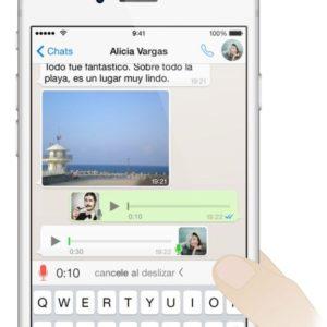 Cada vez son más los usuarios que envían mensajes de voz a través de Whatsapp.